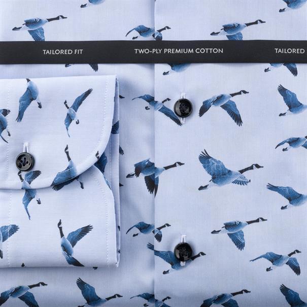 OLYMP SIGNATURE overhemd Tailored Fit 857054 in het Blauw