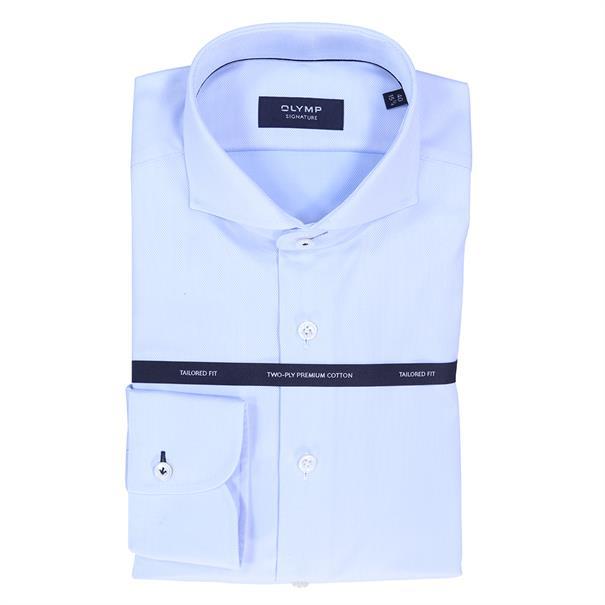 OLYMP SIGNATURE overhemd Tailored Fit 858584 in het Hemels Blauw