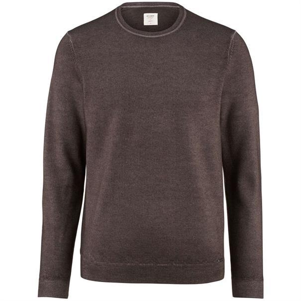 OLYMP truien Slim Fit 535025 in het Bruin