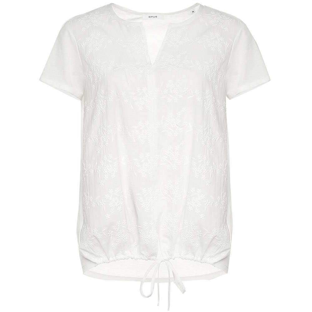 Opus blouse Faleria lace in het Offwhite