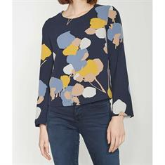 Opus blouse Faleshi abstract ST in het Blauw