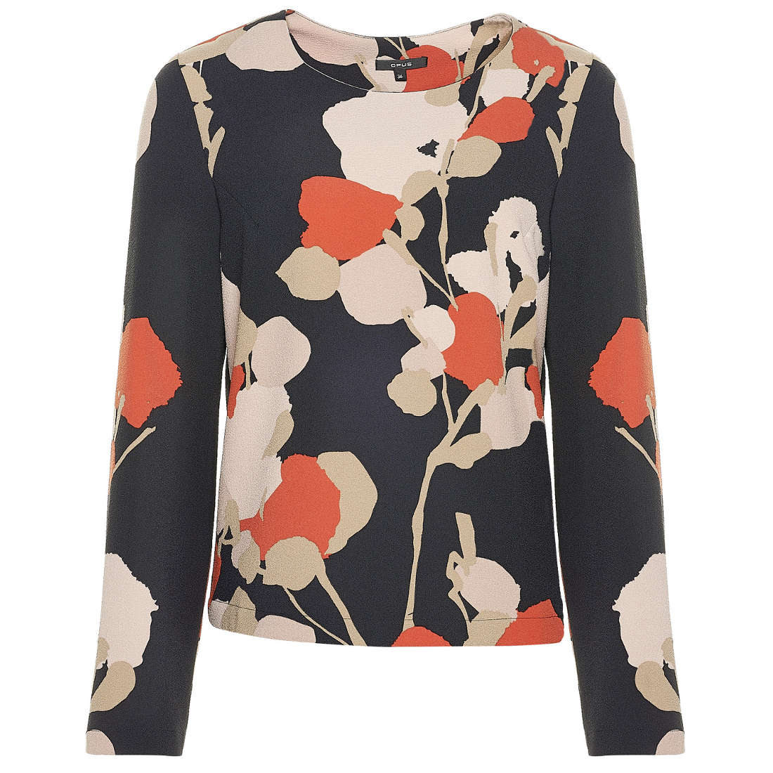Opus blouse Faleshi abstract ST in het Zwart