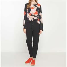 Opus blouse Faleshi abstract ST in het Zwart