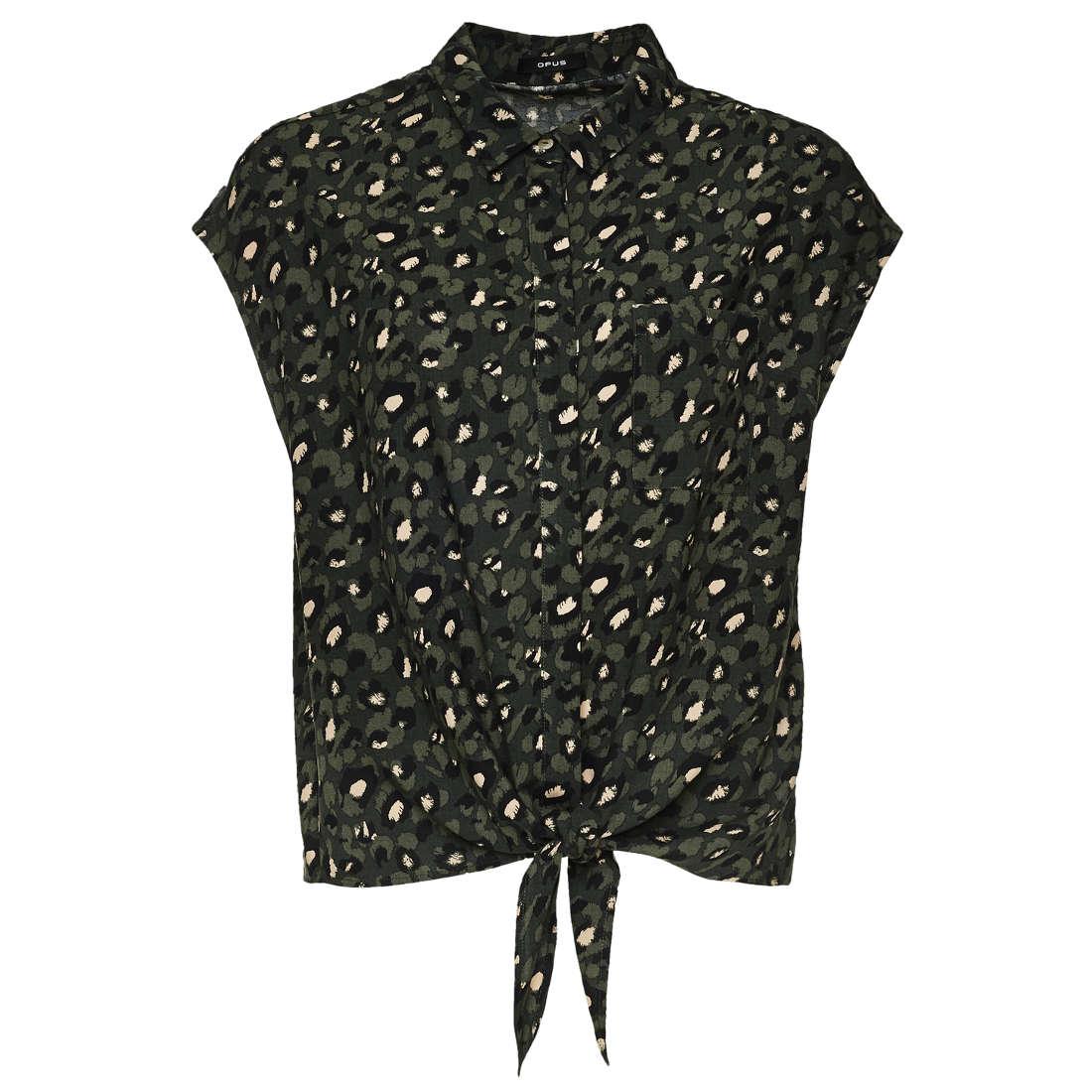 Smit Mode: Opus blouse Falim leo in het Olijf groen