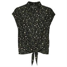Opus blouse Falim leo in het Olijf groen
