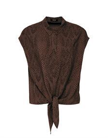 Opus blouse Falim snake in het Zwart