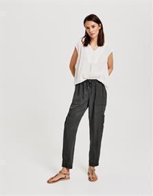 Opus blouse Farani crepe in het Offwhite