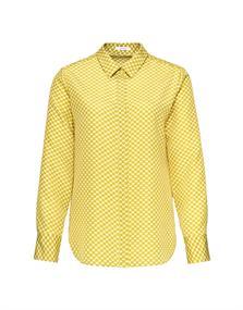 Opus blouse Fastine circle SP in het Wit/Groen