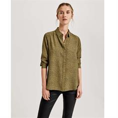 Opus blouse Fastine leo in het Groen