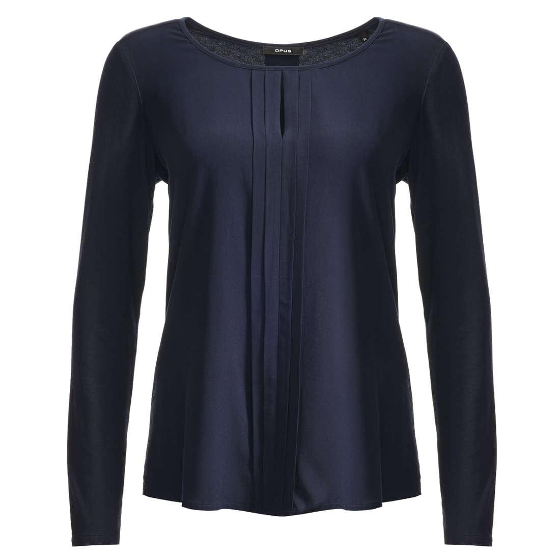 Smit Mode Opus blouse Fesina in het Blauw