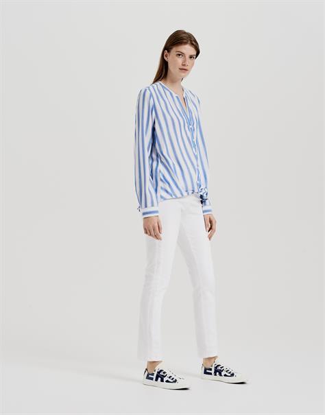 Opus blouse Fiffie in het Blauw