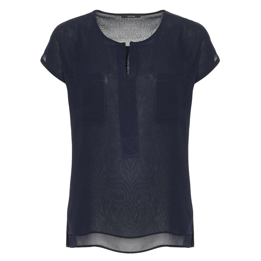 Smit Mode Opus blouse Flusi in het Blauw