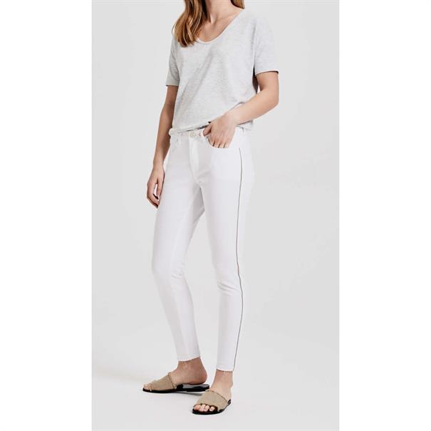 Opus jeans Elma 7/8 glitter in het Wit