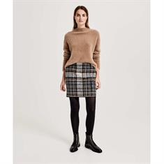 Opus mini rok Ravenna wool check in het Grijs