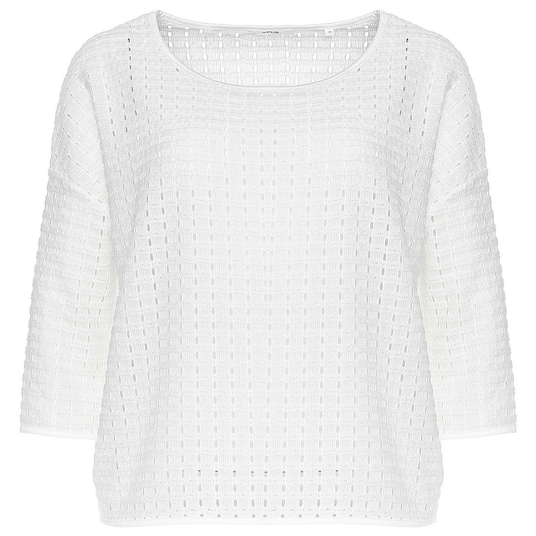 Opus t-shirt 225513959#O8009 in het Wit/Beige