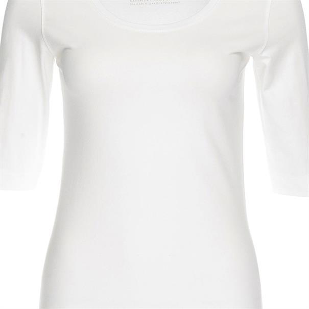 Opus t-shirts  SANIKA in het Wit/Beige