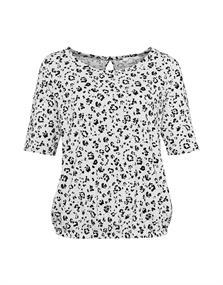 Opus t-shirts Siana in het Grijs Melange