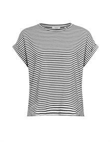 Opus t-shirts Sipay in het Zwart