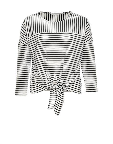 Opus t-shirts Siplak in het Zwart