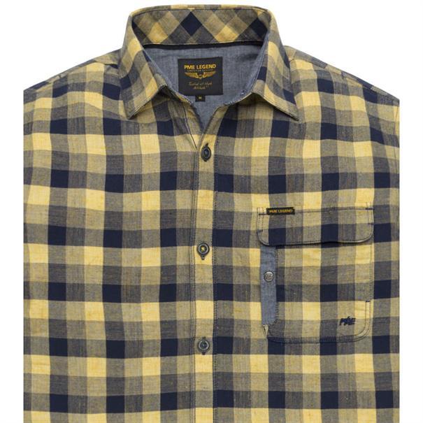 PME Legend overhemd psis193236 in het Licht Geel