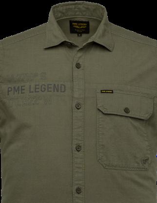 PME Legend overhemd PSIS214250 in het Khaky beige