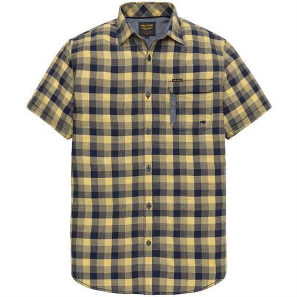 PME Legend overhemd Tailored Fit psis193236 in het Licht Geel