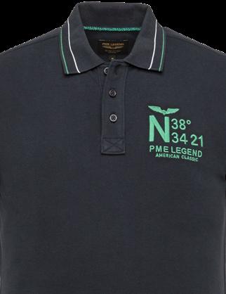 PME Legend polo's PPSS203888 in het Donker Blauw