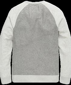 PME Legend ronde hals trui pkw206331 in het Ecru