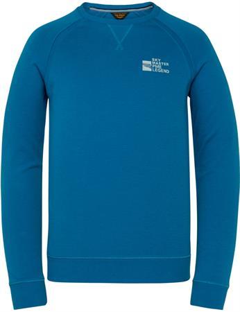 PME Legend ronde hals trui PLS211501 in het Blauw