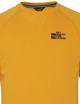 PME Legend ronde hals trui PLS211501 in het Geel