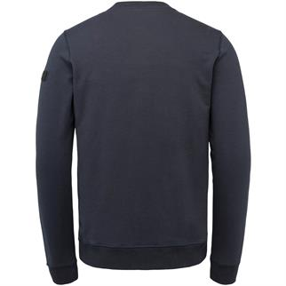 PME Legend ronde hals trui PLS215451 in het Donker Blauw