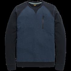 PME Legend sweater PLS206514 in het Donker Blauw