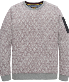 PME Legend sweater psw206412 in het Licht Grijs