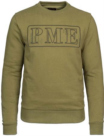 PME Legend sweater PSW215414 in het Olijf groen