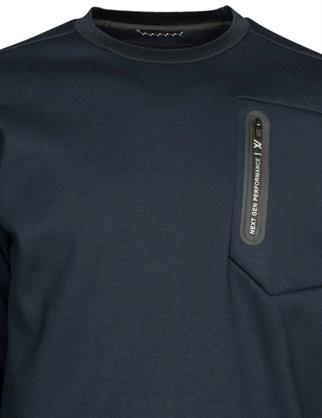 PME Legend sweater PSW215656 in het Donker Blauw