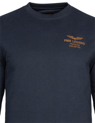 PME Legend sweater PSW216420 in het Donker Blauw