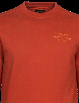 PME Legend sweater PSW216420 in het Rood