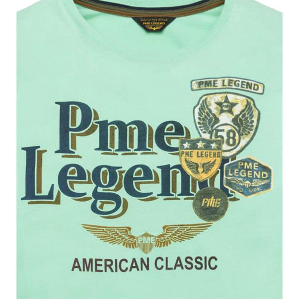 PME Legend t-shirts ptss194532 in het Mint Groen