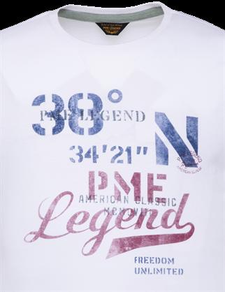 PME Legend t-shirts PTSS203551 in het Wit