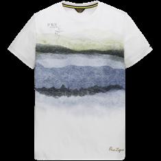 PME Legend t-shirts ptss204577 in het Wit/Groen