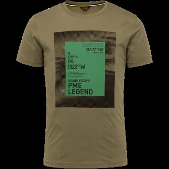 PME Legend t-shirts PTSS214552 in het Khaky beige