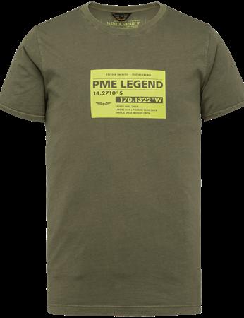 PME Legend t-shirts PTSS214553 in het Khaky beige