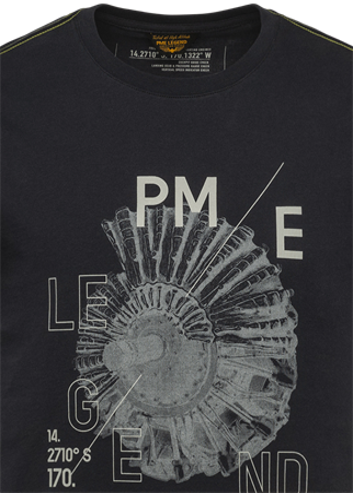 PME Legend t-shirts PTSS214557 in het Marine