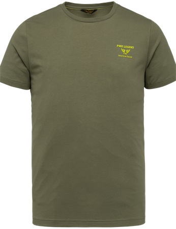 PME Legend t-shirts PTSS214580 in het Khaky beige