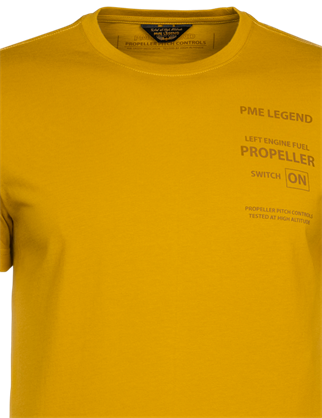 PME Legend t-shirts PTSS215562 in het Geel
