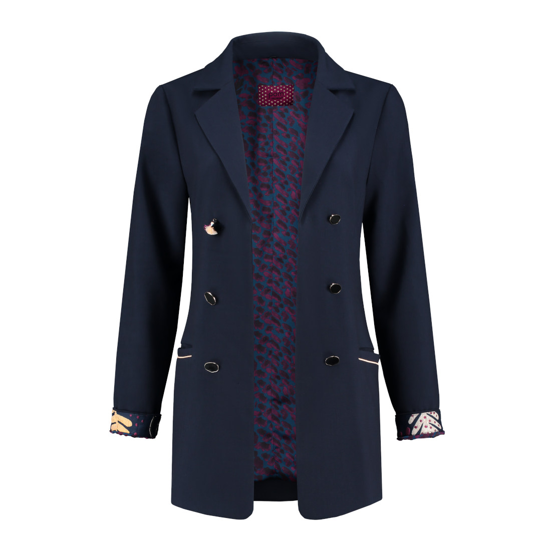 Smit Mode:  Pom blazer sp5992 in het Blauw