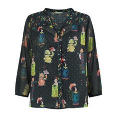 Pom blouse sp6198 in het Blauw