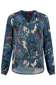 Pom blouse sp6335 in het Blauw
