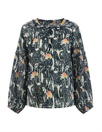 Pom blouse sp6480 in het Donker Blauw