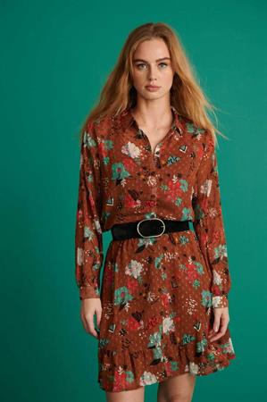 Pom blouse sp6672 in het Bruin